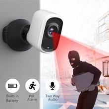 Sdeter câmera de segurança 1080p sem fio, filmadora ip externa à prova dágua para vigilância interna e áudio de alarme de movimento pir
