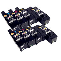 2 conjunto 8 pçs toner para xerox phaser 6000 6010 workcentre 6015 toner de cor para 106r01630/1627/1628/1629 106r01634/1631/1632/1633 color toner xerox phaser 6000 xerox phaser -