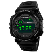 waterproof sports Children's Watch Outdoor Military student Alarm clock fashion
