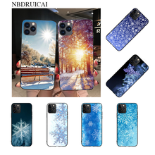NBDRUICAI Winter Pattern Snowflakes Soft Silicone TPU Phone Cover for iPhone 11 pro XS MAX 8 7 6 6S Plus X 5S SE XR case(China)