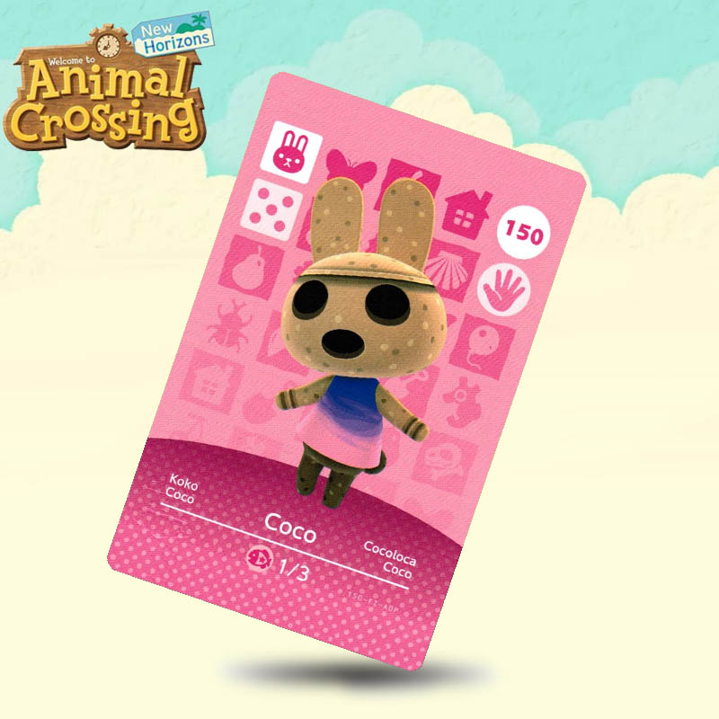 150 Coco Animal Crossing Card Amiibo Cards Work For Switch NS 3DS Games