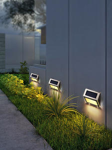 Light Wall-Lamp Stair-Path Solar-Step-Lights Solar-Powered Stainless-Steel Garden Waterproof