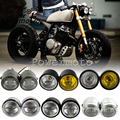 Двойной двойной светильник-Доминатор, сетчатый гриль для кафе-рейсеров H4, двойной светильник с креплением на голову для Harley Honda Bobber Touring Cruiser