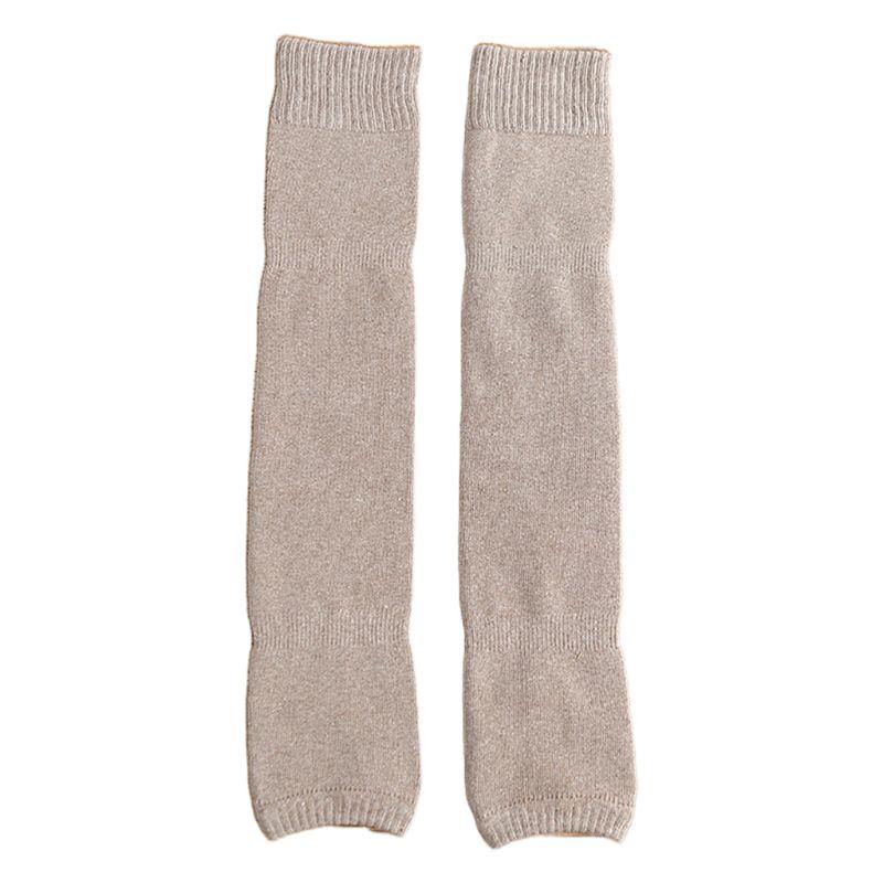 Women Winter Over Knee High Footless Socks Knit Thicken Towel Lined Leg Warmers C90E