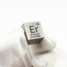 Металлический кубик Erbium редкоземельный для коллекции элементов хобби научный эксперимент 99.9% 3N 10x10x10 мм Er 4 исследования и разработки