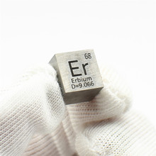 Metal Erbium Cube Rare Earth for Element Collection Hobbies Science Experiment 99.9%3N 10x10x10mm Er 4 Research and Development