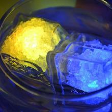 10PCS LED Toys Halloween Toy Colorful Induction light Ice Cubes Flashing Bright Cube