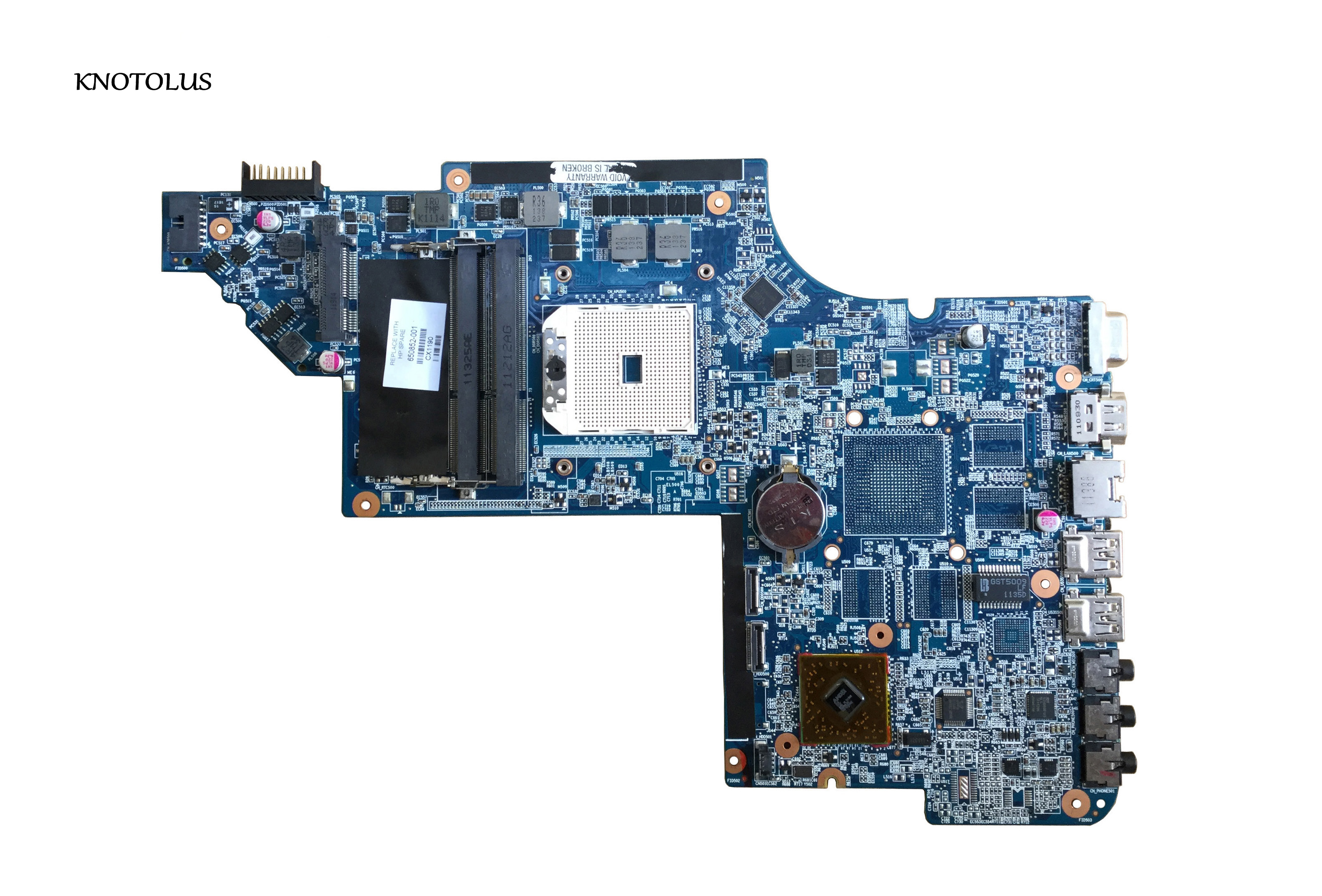 High quality Motherboard 650852 001 for HP DV6 DV6 6000 Laptop Motherboard  for AMD integrated DDR3 tested|Laptop Motherboard| |  - title=