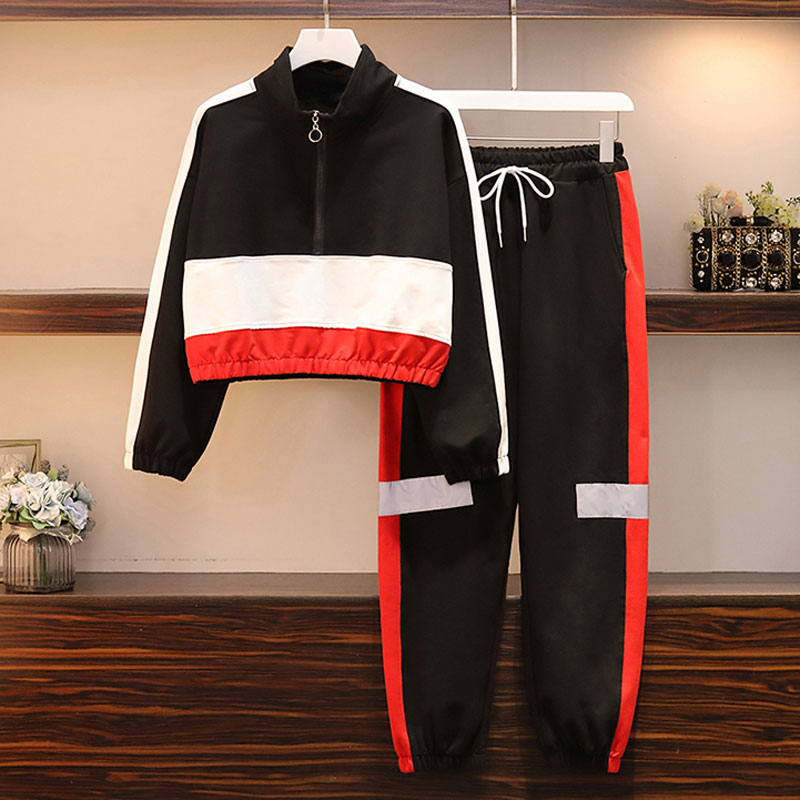 2020 New Casual Tracksuit For Women Two Piece Set Hoodies Loose Sportswear 2 Pieces Running Sports Suit For Women Suits
