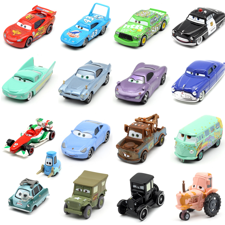 Disney Pixar Car 3 Car 2 McQueen Racing Family Jackson Storm Ramirez 1:55 Die Cast Metal Alloy Children's Toy Car