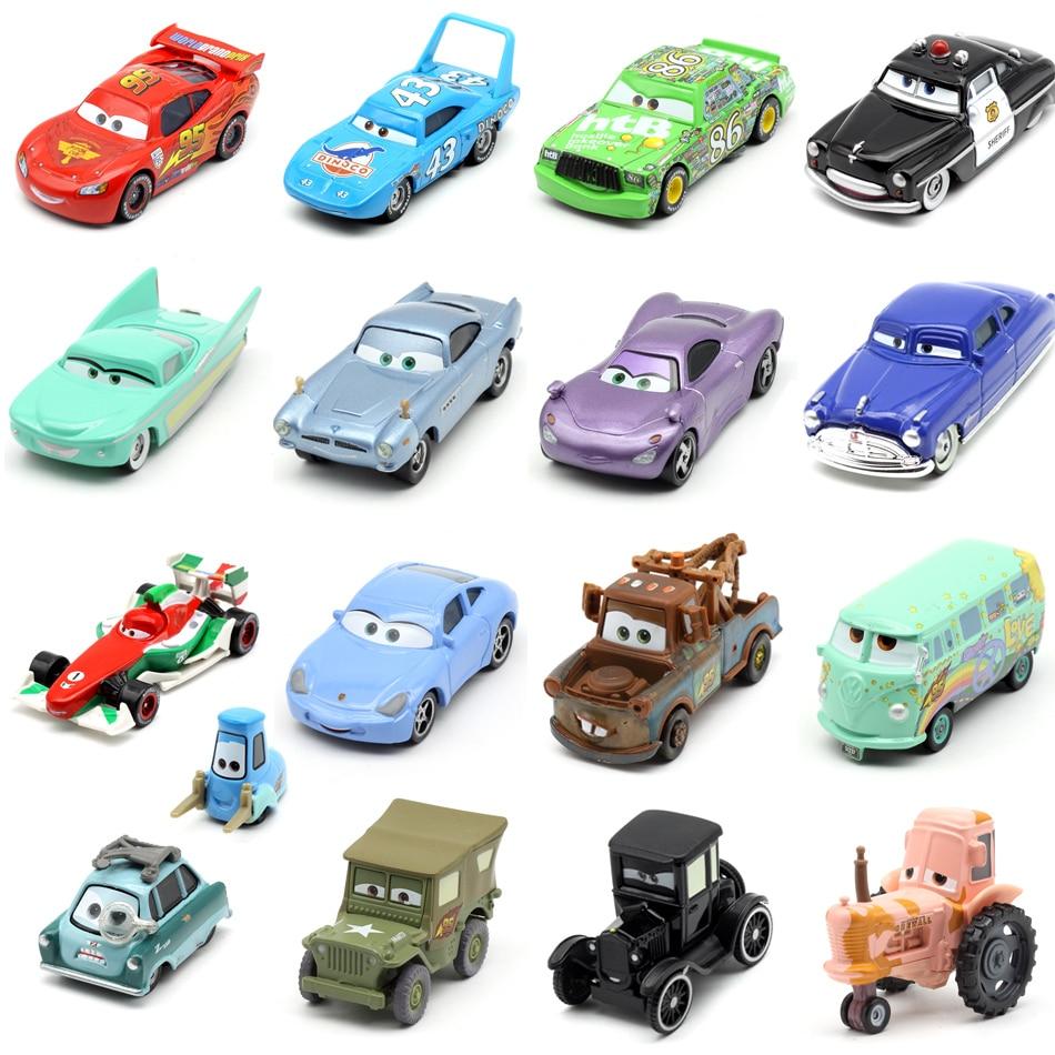 Disney Pixar Car 3 Car 2 McQueen Racing Family Jackson Storm Ramirez 1:55 Die Cast Metal Alloy Children's Toy Car