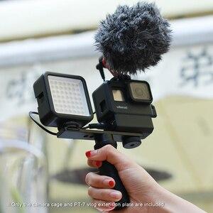 Image 5 - 울란지 V2 프로 스포츠 카메라 케이지 Vlog 케이스 보호 케이지 마이크 비디오 라이트 52mm 필터 마이크 어댑터 GoPro Hero 7 6 5