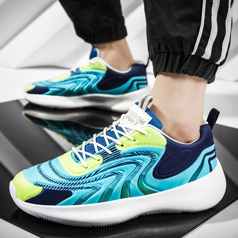 Men Shoes Casual Shoes Men Fashions Male Mesh Shoes Men Sneakers Breathable Zapatillas Hombre Blue Running Sport Blade Shoes