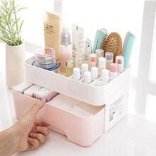1Pcs Multi color Combinable Nail Polish Lipstick Storage Box Makeup Organizer Cosmetic Jewelry Case Drawer Desktop