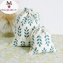 Яростная овца, модные хлопковые сумки для покупок, складные сумки для покупок, Эко сумка для покупок, многоразовая сумка с принтом пшеницы
