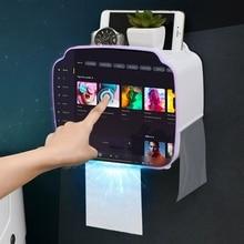 Портативный держатель для туалетной бумаги, настенный диспенсер для бумаги для ванной комнаты, пластиковая коробка для хранения салфеток, набор аксессуаров для ванной комнаты