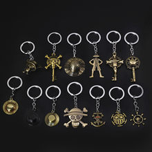 2020 Creative Metal Keychain One Piece Hat Anchor Pendant Car Keyring For Men Women Kid Gift Jewelry Couple Key Ring llaveros(China)