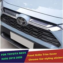 الجبهة العلوي مصبغة شواء صب الكسوة ملصق اكسسوارات السيارات التصميم لتويوتا Rav4 راف 4 المحدودة/LE/XLE/الهجين 2019 2020