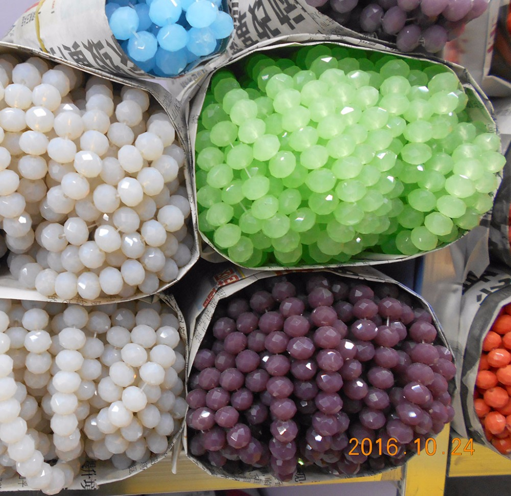 4MM 140 piece/lot Bicone crystal beads Cut Faceted Round Glass Beads Free Shipping(China)
