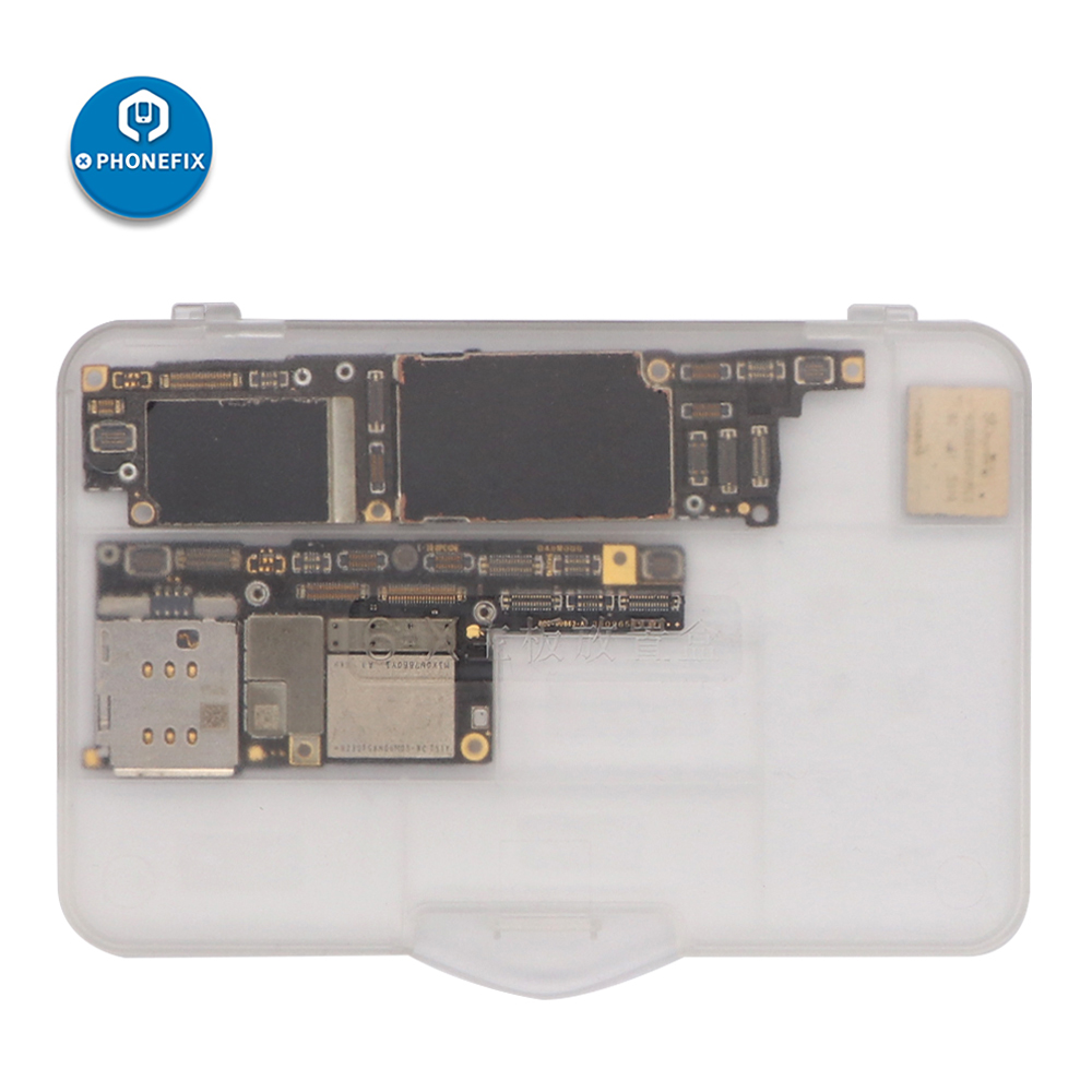 Super-hard Plastic Compartment Transparent Storage Box For Protect IPhone 6 6S 7 8 X Motherboard Repair