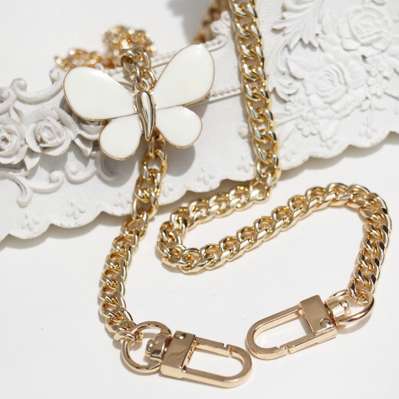 Diy Accessories 50cm-150cm Replacement Gold Metal Chains Shoulder Straps For Small Bags, Handbags Fashion 8mm Bag Handles Straps