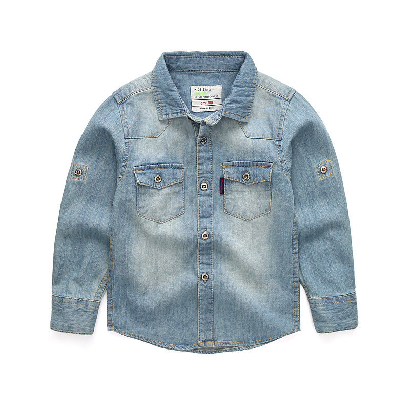 2019 New Thin Denim Jackets for Boys Coats Children Jacket Spring Autumn Solid Turn Down Collar Jeans Coat Children Outerwear in Jackets Coats from Mother Kids