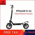 Оригинальный PFULUO X-11 умный электрический скутер 1000 Вт Мотор 11 дюймов 2 колесный скейтборд Ховерборд 50 км/ч Максимальная скорость внедорожный