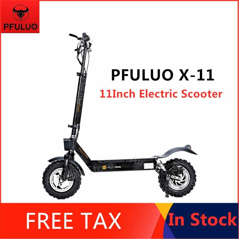 Original PFULUO X-11 Scooter électrique intelligent 1000W moteur 11 pouces 2 roues planche à roulettes hoverboard 50 km/h vitesse Max tout-terrain