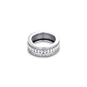 Image 4 - אמיתי 925 כסף סטרלינג טבעות לנצח חתימה טבעת אירוסין תכשיטי הצהרת חתונה לנשים מתנה anillos סיטונאי