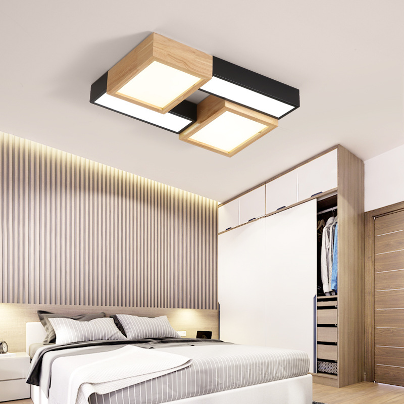 Living Room Lights Minimalist Modern Glorious Rectangular 2019 New Style Northern European-Style Bedroom LED Ceiling Lamp Solid