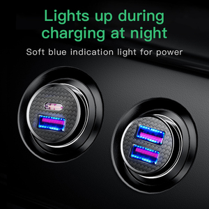 Image 5 - Baseus All Metal Quick Charge USB Car Charger For iPhone Xiaomi Huawei QC4.0 QC3.0 Auto Type C PD Fast Car Mobile Phone Charger