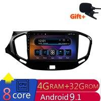 9 4G RAM 2.5D IPS 8 CORE Android 9.1 Car DVD Multimedia Player GPS For Lada VESTA 2015 2016 2017 18 2019 audio radio navigation
