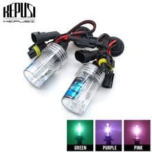 2x 35W H3 4300K 6000K 8000K HID Xenon Bulbs Car Driving hid Headlight Bulb Fog Light 12V xenon white Purple Pink Green Blue
