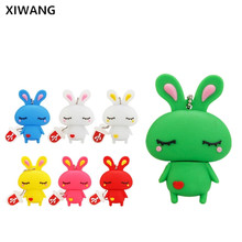 Portable key usb flash drive 32gb 2.0 newest Lovely cartoon Rabbit U Disk pen 8gb 16gb pendrive 64gb 128gb Memory