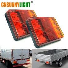 CNSUNNY светильник автомобиль грузовик светодиодный задний светильник Аварийные огни задние фонари Водонепроницаемый Тай светильник Запчасти для прицепов, DC 12V 24V