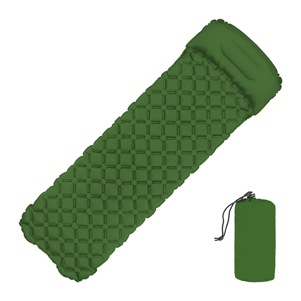 Inflatable Sleeping Pad Camping Mat With Pillow Air Mattress Sleeping Cushion Inflatable Sofa Three Seasons