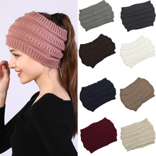 Headband Women Winter Ear Warmer Fashion Elastic Wool Knitted Head Wrap Hairband Girls Elegant Hair Band Accessories