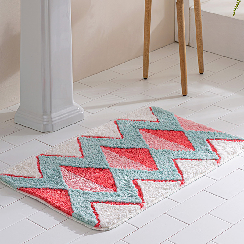 Geometric Area Rug Bathroom Carpet Home