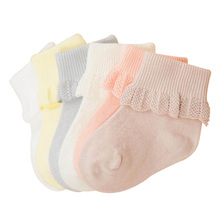 New Arrival Newborn 6 Pairs Lace Baby Socks For Girls 100% Cotton Sock Kids Toddlers Mix Colors 0-3 Years Clothes