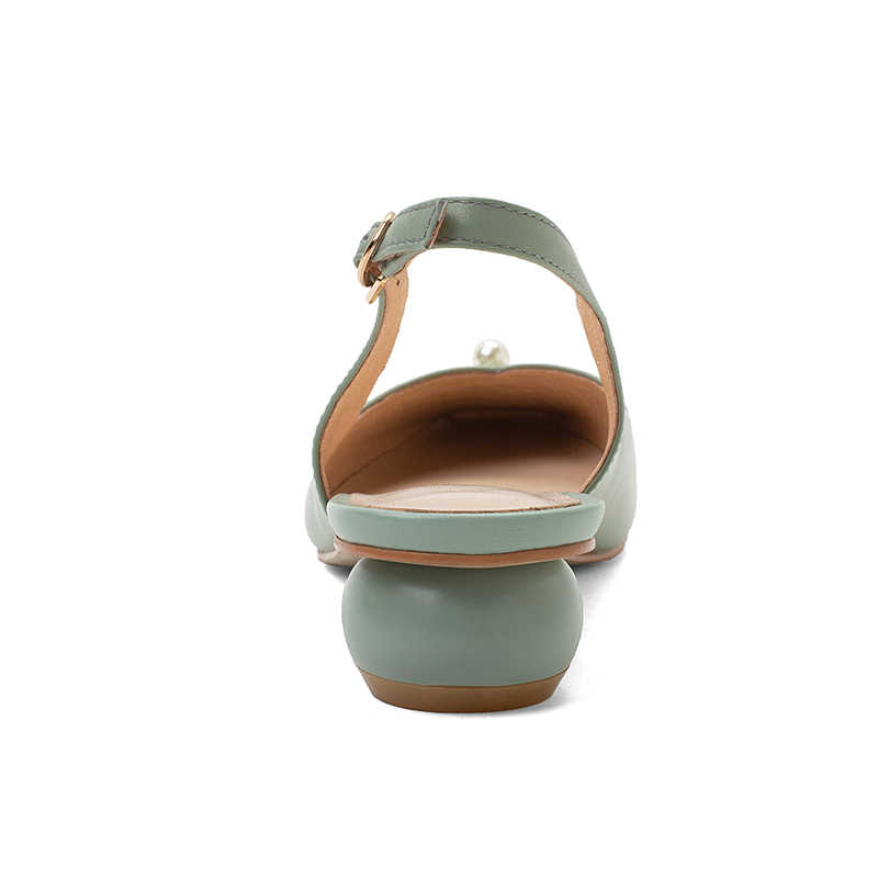 Rizabina Đế Mềm Nữ Bơm Mắt Cá Dây Khóa Nữ Giày Nữ Màu Kẹo Ngọt Vuông Mũi Tròn Gót Giày Size 33 -43