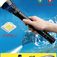 200m profession underwater xhp90.2 led diving flashlight XHP70 led dive torch IX