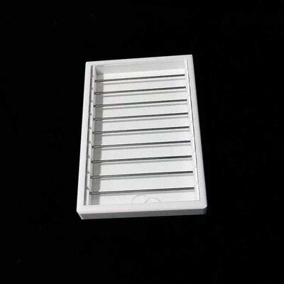Новейший белый акриловый Diy лоток для поиска кольца для демонстрации ювелирных изделий держатель дисплея браслет бусины чехол для хранения Органайзер с крышкой - Цвет: Small Tray