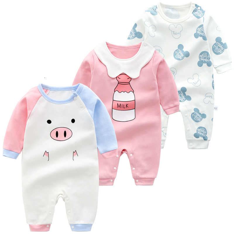 Baby Rompers Long Sleeve Jumpsuit Newborn Clothes Spring Autumn Pajamas, Baby Girl Boy Clothes