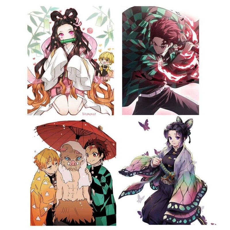 Kimetsu no Yaiba Kamado Nezuko Anime HD Print Poster Scroll Home Decor Cosplay