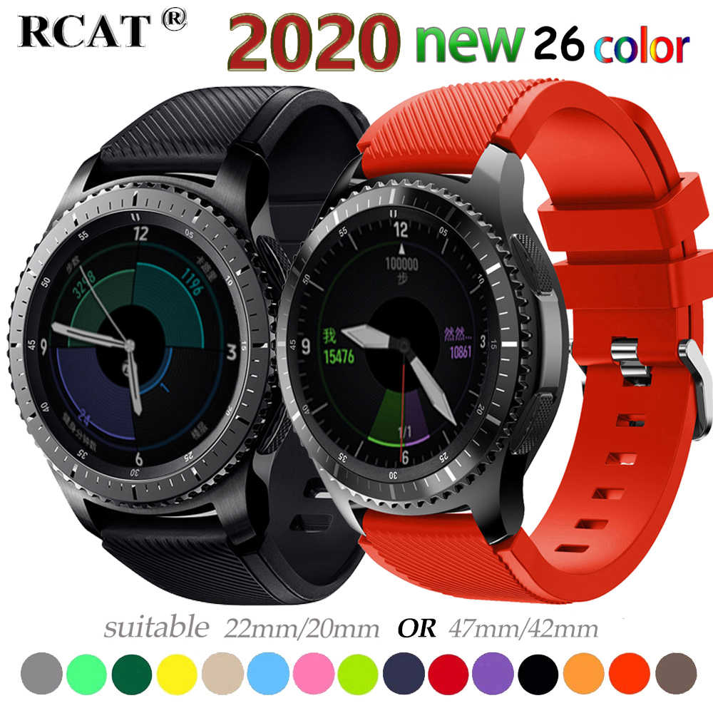 20 22 Mm Watch Band untuk Samsung Galaxy Menonton 46 Mm 42 Mm Aktif 2 Gear S3 Frontier Tali Huawei Watch GT 2 Tali Amazfit Bip 47 44