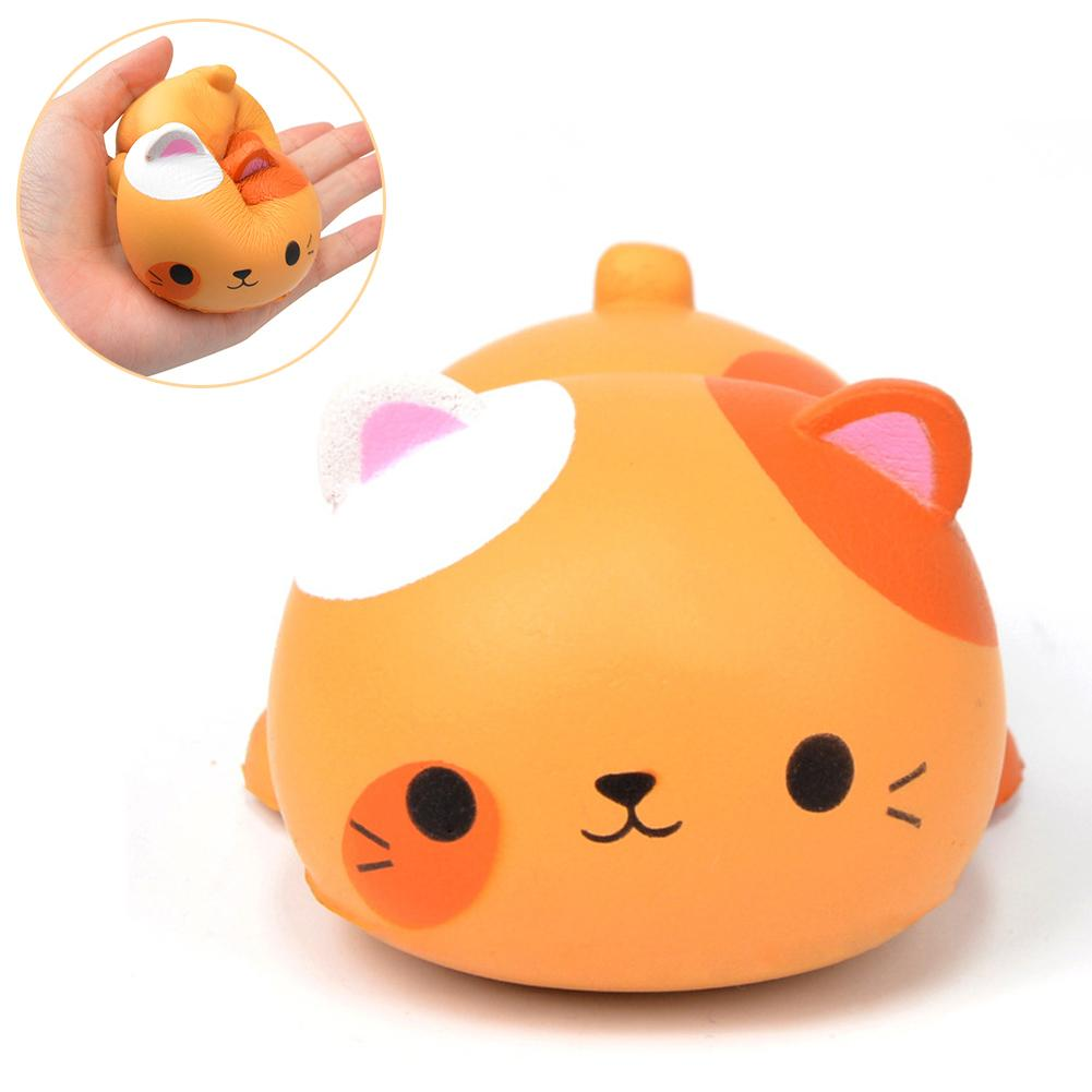 Cartoon Cat Squeeze Slow Rising Scented Relieves Stress Kids Adult Toy