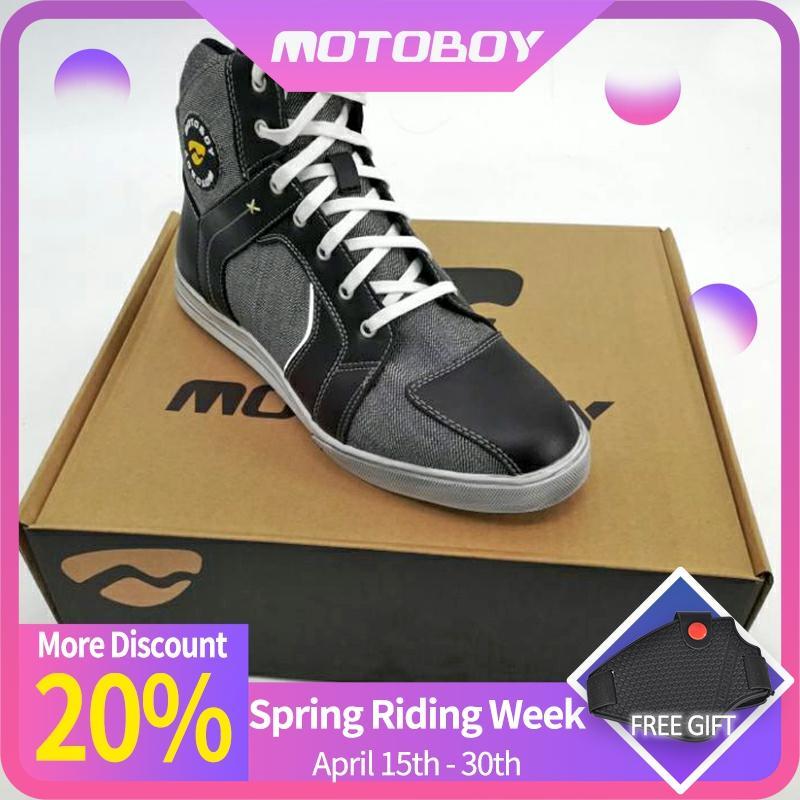 Motoboy Motorrad Stiefel Moto Reiten Stiefel Echten Sport Motorrad Biker Chopper Cruiser Touring Schuhe Motorrad Schuhe Stiefel