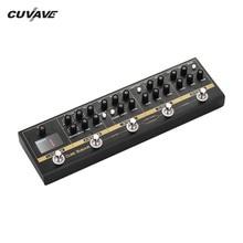 CUVAVE تأثيرات الغيتار دواسة 72 IR خزائن محاكاة 9 حلقات موالف الإفراط في الغوص تشويه جوقة فيزر لملحقات الغيتار