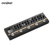 CUVAVE pédale deffets de guitare 72 IR armoires, Simulation de accordeur à 9 boucles, distorsion de chorales surplongée, accessoires de guitare