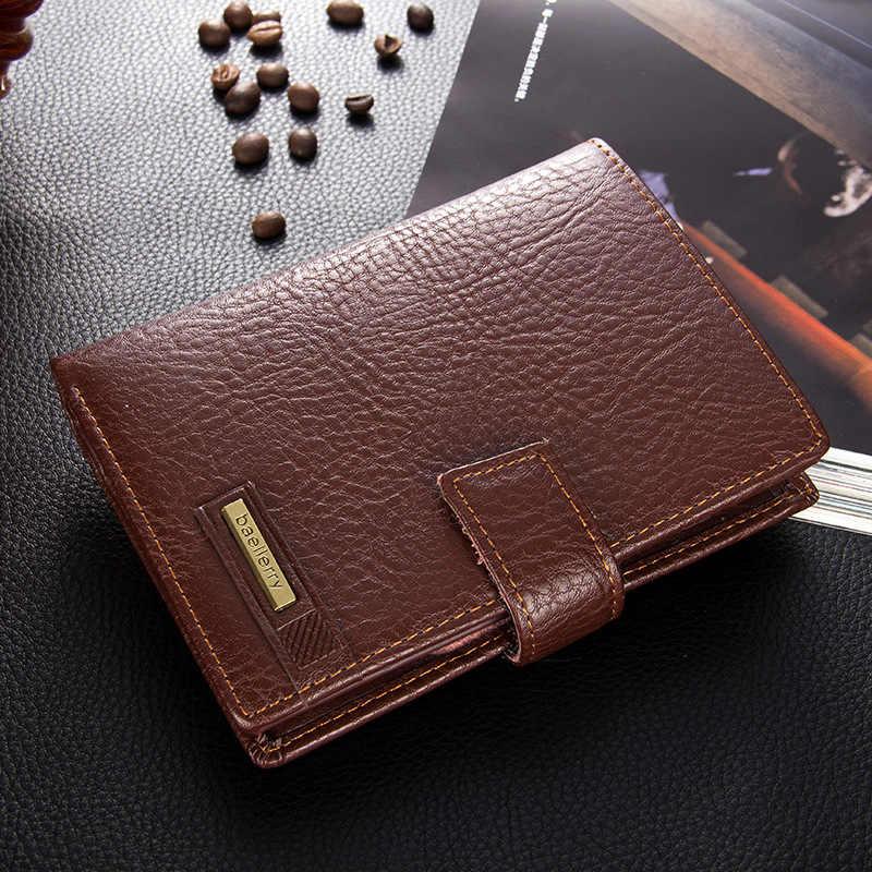 2020 الرجال محافظ اسم النقش حامل بطاقة محفظة عالية الجودة للرجال خمر الصلبة الذكور رقيقة محفظة العلامة التجارية Carteria Portomonee